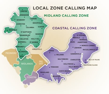 Local Zone Calling Map